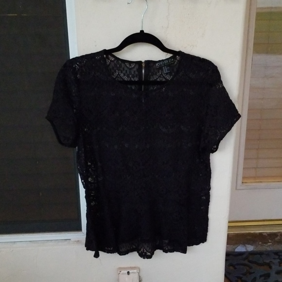 Forever 21 Tops - Lace Peplum Top